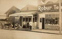 Digital Photograph - Family Outside Colney's Butcher Dairy Shop, Footscray West, circa 1920