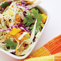 Learn how to make Mango-Lime Slaw . MyRecipes has 70,000+ tested recipes and videos to help you be a better cook