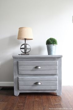 From a dated thrift store find to a rustic farmhouse end table
