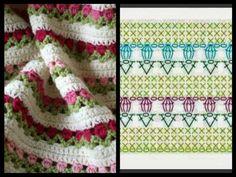 Crochet Bedspread Patterns Part 3 - Beautiful Crochet Patterns and Knitting Patterns Crochet Bedspread Pattern, Crochet Stitches Patterns, Crochet Designs, Knitting Patterns, Crochet Diagram, Crochet Chart, Crochet Motif, Knit Crochet, Irish Crochet