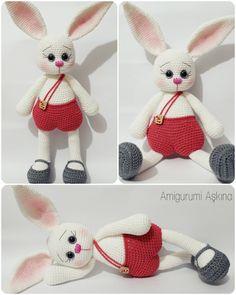 Amigurumi Tavşan Pamuk-Amigurumi Rabbit #amigurumirabit #amigurumitoys #crochettoys
