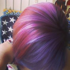 Pink purple ombre hair magenta ion manic panic
