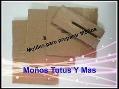 Molde de carton para hacer moños - BOW MAKING TEMPLATE - moños perfectos en cinta liston - YouTube