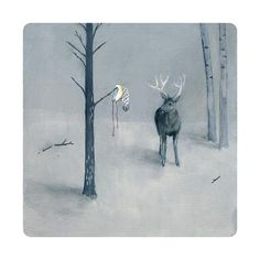 A Grand Discovery -limited edition art print from original painting op Etsy, Deer Illustration, Antler Art, Deer Art, Tumblr, Traditional Paintings, Photo Projects, Limited Edition Prints, Community Art, Love Art