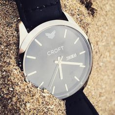 With Crystal Sapphire glass and stainless steel casing The Richmond is your perfect companion when at the beach. #CROFTWatches #EverydayAdventure #watchesofinstagram #fashion #style #devon #beach #beachlife