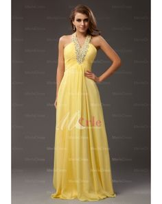Sleeveless Halter Beading Floor-length Chiffon Prom/Evening Dresses but in a different color Beauty Pageant Dresses, Chiffon Evening Dresses, Cheap Prom Dresses, Ball Dresses, Bridesmaid Dresses, Affordable Formal Dresses, Formal Dresses For Women, Gala Gowns, Prom Dress 2014
