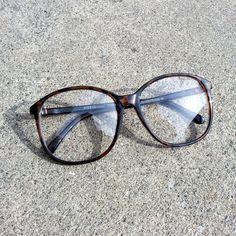 Deadstock Hipster Oversize Clear Lens Fashion Glasses