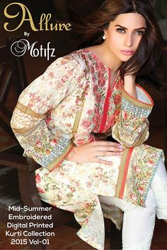 e569dd504 47 Best Embroidered Digital Printed Kurti Collection 2015 Vol-1 ...