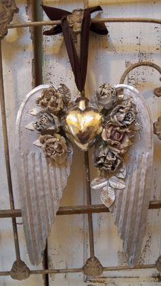 Handmade decoration mercury glass heart large by AnitaSperoDesign, $135.00