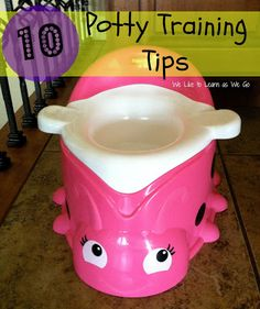 10 Potty Training Tips!  We just potty trained our toddler and these are the things we did.  It wasn't as scary as I thought it would be! | We Like to Learn as We Go