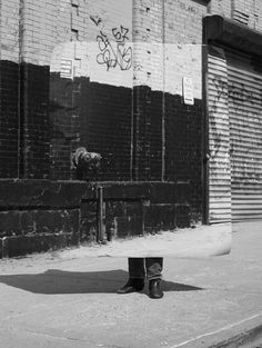 Fred Lebain has shot at various locations around New York, printed the results, then returned to the locations to shot again and create a superimposition of reality.