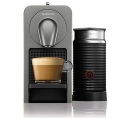 Nespresso Prodigio Cafetière Espresso avec Mousseur - Titane