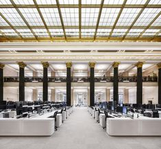 """National Bank of Canada trading floor, which was formerly a """"dark and uncomfortable"""" space, Central Montreal"""