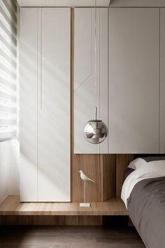 schlafzimmer ideen minimalistische züge helles holz hängelampe