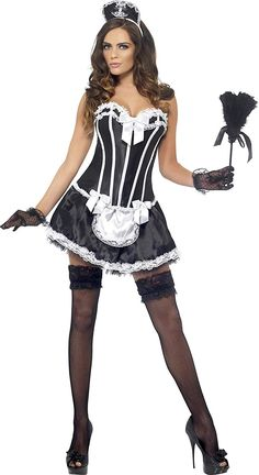 2020 Fever Women's Boutique Maid Costume and more Sexy Costumes for Women, Women's Halloween Costumes for French Maid Lingerie, French Maid Dress, French Maid Costume, Sexy Outfits, Costumes Sexy Halloween, Fantasias Halloween, Maid Outfit, Tight Dresses, Manga Girl