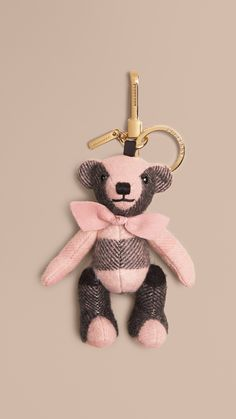 a3d2d3c783 Ash rose Thomas Bear Charm in Check Cashmere Rose - Image 1 Couture  Accessories, Leather. Burberry United Kingdom