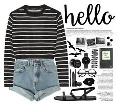 """HELLO"" by nellylein ❤ liked on Polyvore featuring Levi's, TIBI, Avenue, Rodial, Retrò, River Island, I Love Ugly, MM6 Maison Margiela, David Yurman and NYX"