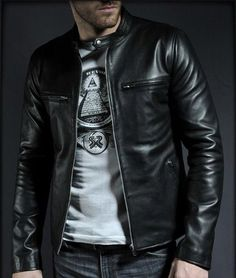 Mens oo o Black leather jacket, Men real leather jackets, Mens leather jacket - Outerwear Men's Leather Jacket, Leather Men, Leather Jackets, Jacket Men, Real Leather, Black Leather, Revival Clothing, Cool Jackets, Casual Jackets