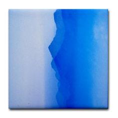 Abstract watercolor texture ombre Tile Coaster> Abstract watercolor texture in blue ombre> Victory Ink Tshirts and Gifts