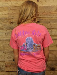 Check out this Comfort Colors tee featuring the brand new OA Grant Humanities Building! BLEED PURPLE, TEXANS