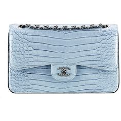 Check Out Chanel's Spring 2014 Bags, Now in Stores - Page 37 of 42 -... ❤ liked on Polyvore featuring bags, handbags, chanel, clutches, purses, chanel bags, blue hand bag, chanel purses, chanel backpack and handbags purses