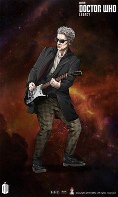 "The Twelfth Doctor | Guitar Costume | Black-Blue | ""The Witch's Familiar"" (Season 9)"