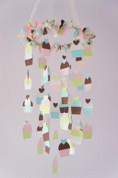 Cupcake Nursery Mobile Nursery Decor by LovebugLullabies on Etsy