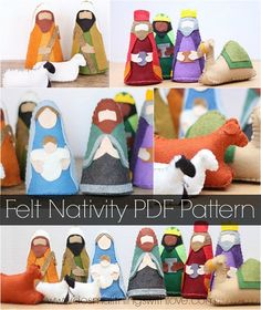Nativity sets for Christmas are at their cutest in felt. Add a little home-made charm to your Christmas decorations with this Felt Nativity