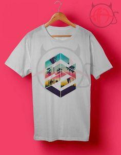 Geometric Sunset Beach T Shirt