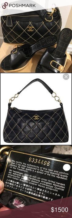 bd8ee2654ba8 🖤CHANEL🖤 Wild Stitch Shoulder Bag 100% Authentic Chanel Wild Stitch  Lambskin Leather Handbag with gold stitching & gold hardware. As seen in  the photos, ...