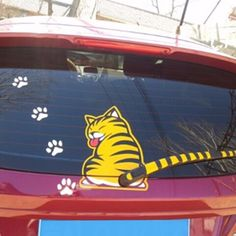 Funny Cartoon Cat Decoration Moving Tail Stickers Auto Vehicle Car Wiper Sticker #UnbrandedGeneric