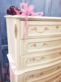 Wedding Cake Dresser painted with Annie Sloan Pure White