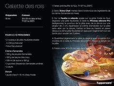 Galette des rois Tup Cake Tupperware, Tupperware Recipes, Deserts, Beef, Food, Genre, Sweet Recipes, Cooker Recipes, Drinks
