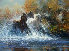 Western painting | Robert Hagan 1947 | Australian Impressionist painter