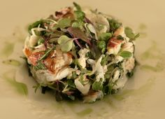 Dungeness crab salad with Thai basil and mint
