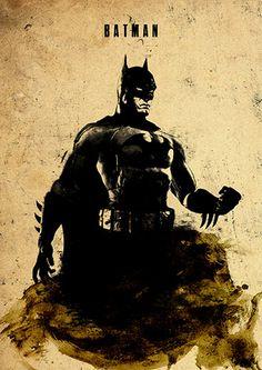 Batman Minimalist Movie Poster por moonposter en Etsy