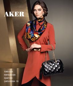 AKER 2013-14 Sonbahar / Kış Koleksiyonu  Tunik : 15235 Pantolon : 3129 Eşarp : 5991 Çanta : R142K14-721  #bag #womanbag #aker #akercanta #hijab #fashion #tote #reticule #paris #moda #vogue #tesettur #model #mode #style #pattern #handbag #suitcase #sac #borsa #trend #aker #akeresarp #clutch #speedbag #shoppingbag #ladybag #FW #2013FW #fallwinter #akergiyim #collection #skirts #dresses #coats #panths #stylish #fashionable #trendsetter #vest #jacket