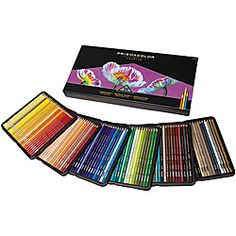 @Overstock - PrismaColor artist-quality colored pencils offer high-quality pigments for rich color saturation. The soft yet thick core creates a smooth color laydown for superior blending and shading while resisting breakage.http://www.overstock.com/Crafts-Sewing/Prisma-150-piece-Soft-Core-Colored-Pencil-Set/6724444/product.html?CID=214117 $182.99