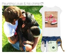 """""""Reuniting Louis & his chimp"""" by hpforever00 ❤ liked on Polyvore featuring MANGO, Vans, cute, louistomlinson, OTRATour and TalisLittleTag"""