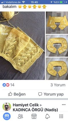 """diy_crafts- 85 ilmek """"Discover thousands of images about 85 ilmek"""", """"This post was discovered by ilk"""" """"This post was discovered by iZMiRE YAVRUM. Baby Knitting Patterns, Knitting For Kids, Easy Knitting, Knitting Designs, Baby Patterns, Vintage Patterns, Crochet Pattern Central, Tshirt Garn, Diy Crafts Crochet"""