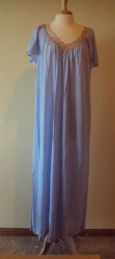 "Shadowline rhapsody Shortsleeve 53"" Nightgown Style 32140 Assorted Colors L-3X #Shadowline #Gowns"
