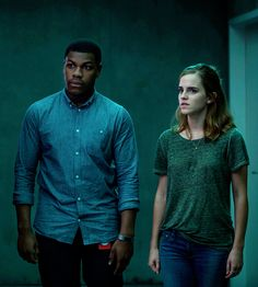 """""""Emma Watson and John Boyega in a new still from """"The Circle"""" (2017) """""""