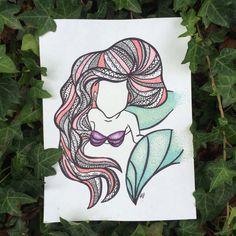 Ariel #littlemermaid #mermaid #disney #disneyslittlemermaid #ariel #drawing #zentangle #henna #hennainspired #hair #draw #art #artist #red #redhair #disneyprincess