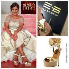 XIX GLOBOS DE OURO - SIC/CARAS  Sofia Tavares Television Presentear, uses sandals Egídio Alves Shoes...   www.egidioalves.com