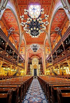 Budapest's Great Synagogue located on Dohay Street is the largest synagogue in Europe.