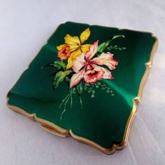 vintage powder compacts | vintage square powder compact by ava mae designs | notonthehighstreet ...