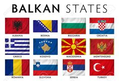 Flags of Balkan states today Countries And Flags, World Football, Flags Of The World, Bosnia, Macedonia, Eastern Europe, Albania, Montenegro, Slovenia