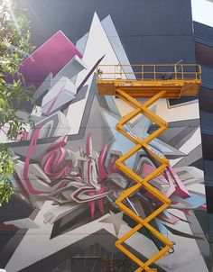 Urban Art - Recently, German 3D graffiti master DAIM finished a massive mural after eight days of work!