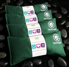 Namaste Yoga Unscented Eye Pillow  Green  Set of 4 *** Click image to review more details.