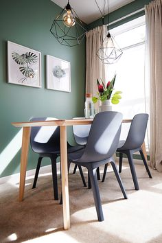 Stain resistant lisabo dining room tables - ikea home tour Dining Room Lighting, Dining Room Design, Ikea Dining Chair, Dining Room Chairs, Ikea Dining Room, Ikea Dining Table, Dining Room Paint, Ikea Dining Room Sets, Dining Room Tables Ikea
